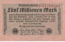 * Ro. 104a - 5 millones de marcos-Deutsches Reich - 1923-Serie: f *
