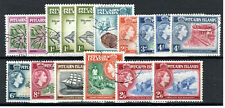More details for pitcairn islands 1957-63 set to 2s 6d + all shades fu cds