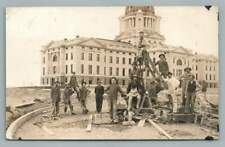 Men Constructing State Capitol Building (?) RPPC Construction Occupation Photo