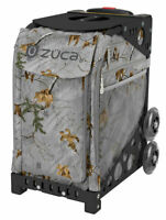 Zuca Realtree Xtra Frost Gray Sport Bag and Black Frame with Non Flashing Wheels