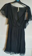 Bnwt pepe jeans pleated floaty shift dress black size small