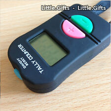 Digital Hand Tally Counter Electronic Manual Clicker Golf Gym Security