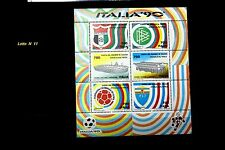 FRANCOBOLLI CALCIO - FOGLIETTO MONDIALE ITALIA '90 - 6 PEZZI DA 700 LIRE NUOVI