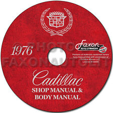 1976 Cadillac Shop Manual and Body Repair CD Deville Eldorado Fleetwood Service