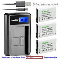 Kastar Battery LCD Charger for Nikon EN-EL23 MH-67P & Nikon Coolpix P600 Camera