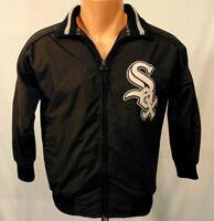 Chicago White Sox MLB Youth Jacket Size S Vintage Majestic Sewn Black Nylon