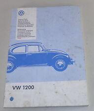 Catalogue Catalogue des Pièces VW Coccinelle 1200 Support 1995