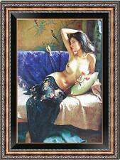 "Original Female Oil painting art Chinese nude girl on canvas 24""x36"""
