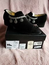 Authentic 2016 Chanel Black Velvet Suede Charm Booties , Size 39,5