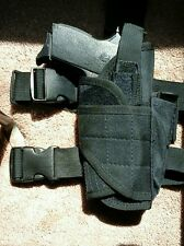 Drop Leg Thigh Holster with Mag Pouch •  Black • Adjustable • New!
