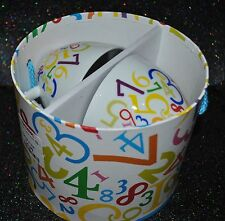 NEW Paperproducts Design DIGITS SET/2 CAPPUCINO MUG Saucer Numerical GIFT BOX