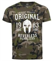 Neverless® Cooles Herren T-Shirt Original Gladiator Camouflage Camo-Shirt
