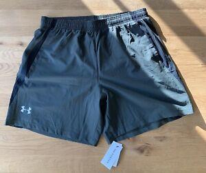 Brand New Mens Under Armour Green Running Shorts - XL