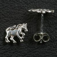 Pferd Ohrstecker 925er Silber Symbol Schmuck - NEU