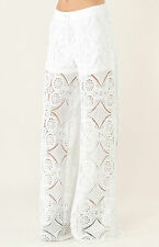 NEW Liberty Garden Lace Wide Leg Pants Shorts Lining XS S 5BRN8309