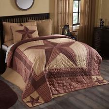 LANDON Luxury CAL King Quilt Primitive Star Khaki Rustic Farmhouse VHC Brands