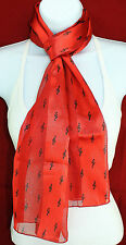 Music Clefs Womens Scarf Novelty Musical themed Red Music Rectangle Scarves New
