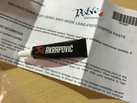 New Genuine Akrapovic Exhaust Anti Seizing Lead FREE Copper Grease Tube 501800