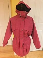Vintage Woolrich Plaid Wool Lined Hooded Jacket Coat Parka Women's Size Small