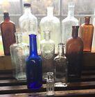 VTG ANTIQUE EMBOSSED MEDICINE APOTHECARY GLASS GOLD SEAL ALCOFORM 11 BOTTLE LOT
