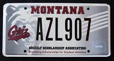"""MONTANA """" GRIZZLY BEAR - SCHOLARSHIP - SPORT """" MT SPECIALTY  License Plate"""
