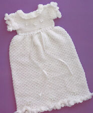 Crochet Pattern ~ DELICATE BABY CHRISTENING DRESS ~ Instructions