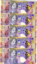 LOT Kamberra, 5 x 20 Numismas, POLYMER, 2013, UNC > Commemorative, Chamelion