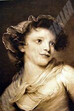 ESTAMPE phototypie 1904 LA COQUETTE de GREUZE 1725 1805 Larousse