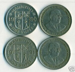 Details about  /3 DIFFERENT 1 RUPEE COINS from MAURITIUS 1997, 2005 /& 2010
