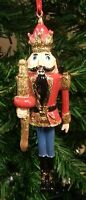 HAND PAINTED & DECORATED RESIN NUTCRACKER TOY SOLDIER CHRISTMAS TREE ORNAMENT