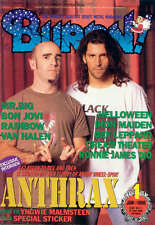 Burrn Jan/96 Anthrax Mr. Big Bon Jovi Van Halen Rainbow Dio Iron Maiden Leppard