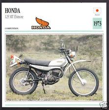 1973 Honda 125cc MT Elsinore (123cc) MT125 Japan Motorcycle Photo Spec Info Card