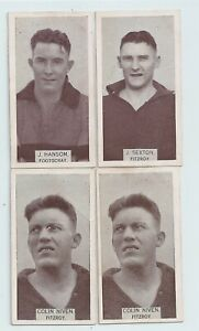 1933 Wills small size cigarette card Fitzroy & Footscray lot of Four very good