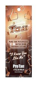 Pro Tan Irresistibly Tan ultra dark sunbed tanning lotion cream sachet