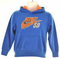 NIKE Boys Hoodie Jumper 10-11 Years Medium Blue Polyester  X215
