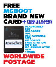 Brand New Free McBoot Memory Card / Latest Version 1.966 / 8MB / PS2 / FMCB