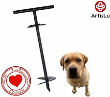Dog Tie-Out Stake-Built in Handle, Rust-Resistance, Heavy Duty-For Big Dogs