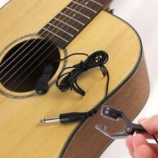 Black Clip-on Sound Pickup Guitar Bass Cello Ukulele Violin Guitar Parts Tools'
