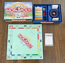 Monopoly Deluxe Edition Board Game Hasbro 1988 Gold Tokens Wood Houses Complete