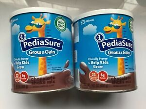 PediaSure Grow & Gain Non-GMO & Gluten-Free Shake Mix Powder chocolate 2 cans