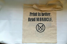 Monocle Magazine Promotional Cotton Tote Bag February 2016 Silk Screen Printed