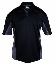Himalayan H800 Iconic Zephyr black/grey work wear polo shirt size small-4XL