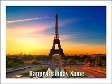 EIFFEL TOWER PARIS A4 (25.5cm x 19cm) EDIBLE ICING IMAGE CAKE TOPPER #2