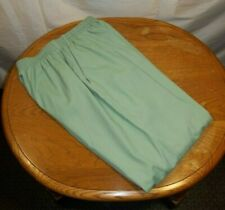 Peaches Uniforms Womens Scrub Pants Bottoms Size Medium Blue Green