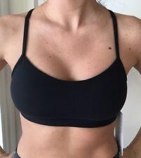 LULULEMON Size 8 Flow Y Bra Nulu Black BLK RacerBack Top Run Energy Yoga Soft