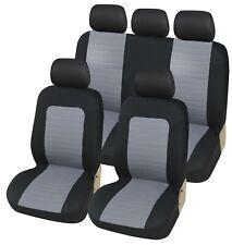 5x Grau Schonbezüge Komplett Satz Sitzbezüge für Subaru Suzuki Toyota Volvo VW