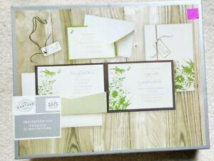 25 Personalized Custom Spring Floral Bridal Wedding Invitations Set