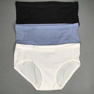 3 Stück Hanes Damen Slip Hipster Weiches Baumwolle Komfortabler Bund Gr. S, M, L