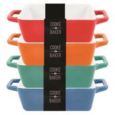 4 X Piccolo STONEWARE Teglia forno alla tavola che servono sformato/Bake/lasagne/tapas