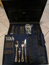 Servizio Posate Acciaio Inox Con Oro 24kt 75 Pezzi, Valigia compresa